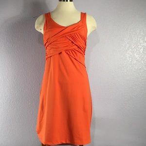 Athleta orange sleeveless dress small